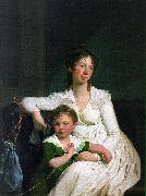Jens Juel Portrait of a Noblewoman with her Son oil painting